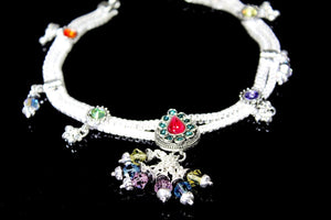 2PC HANDMADE  Solid Silver Payal 925 sbb12 Sterling adult ladies Anklets - Royal Dubai Jewellers