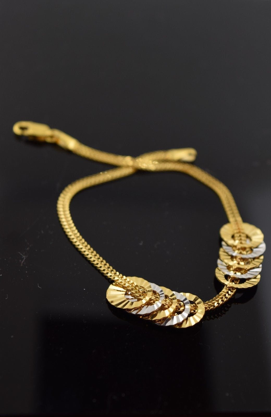 22k 22ct Solid Gold ELEGANT Bracelet with box length 7.7 Inch CB58 - Royal Dubai Jewellers