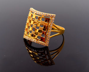 "22k 22ct Solid Gold Elegant STONE BAND Ring size 10.8 ""FREE RESIZABLE"" r656 - Royal Dubai Jewellers"