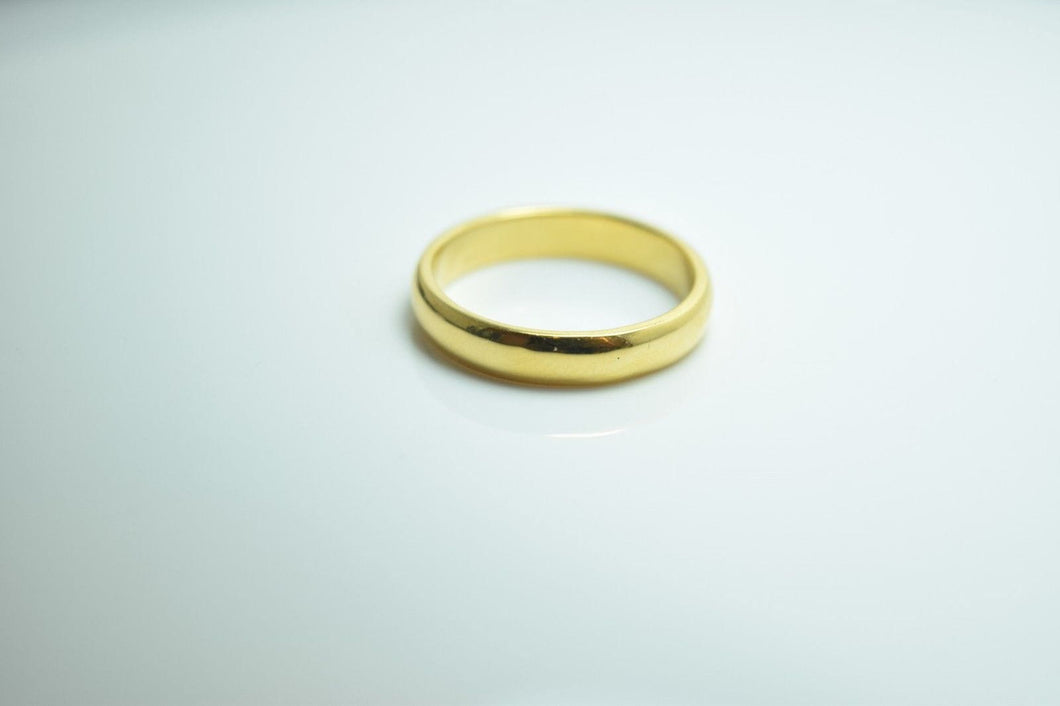22k 22ct solid gold Elegant Wedding Band unisex with unique box r215 - Royal Dubai Jewellers