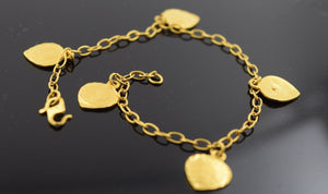 22k 22ct Solid Gold ELEGANT Bracelet DANGLING with box length 6.8  Inch Cb109 - Royal Dubai Jewellers