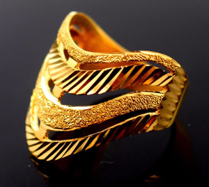 22k 22ct Solid Gold ELEGANT RING band with BOX FREE *RESIZING* R546 - Royal Dubai Jewellers