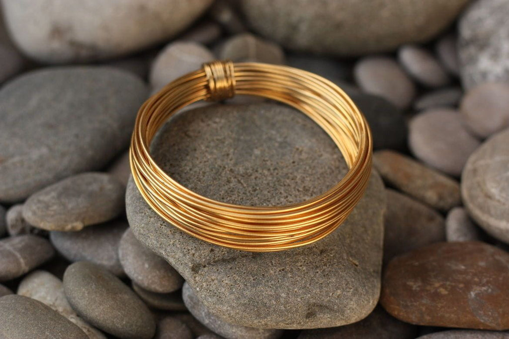 22K Pure .916 Solid Gold 18 - 30 Gauge 12inch  Half Hard Round Wire BRAND NEW - Royal Dubai Jewellers