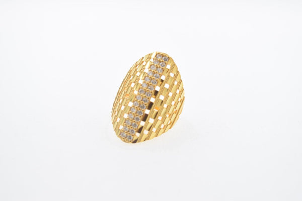 "22k 22ct Solid Gold Elegant STONE BAND Ring size 8.5 ""FREE RESIZABLE"" r647 - Royal Dubai Jewellers"