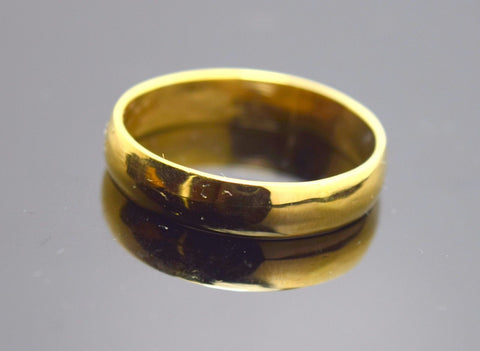 "22k 22ct Solid Gold ELEGANT BAND Ring with FREE18k BOX ""RESIZABLE"" R70"
