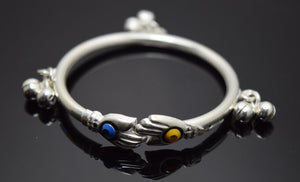 2PC HANDMADE Baby Solid Silver Bracelet 925 sb29 Sterling Children Bangle Cuff - Royal Dubai Jewellers