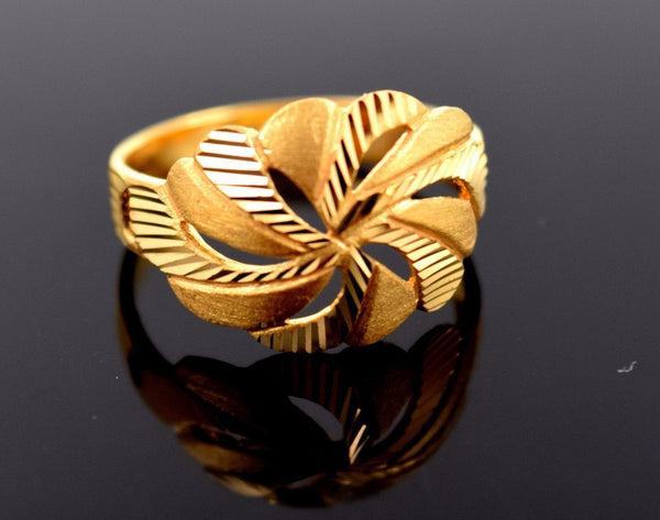 22k 22ct Solid Gold ELEGANT RING band with BOX FREE *RESIZING* R548