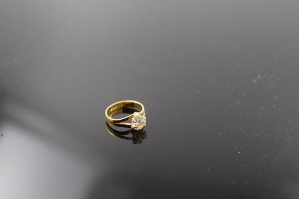 "22k 22ct Solid Gold ELEGANT BABY KIDS Ring ""RESIZABLE"" size .25 r500 - Royal Dubai Jewellers"