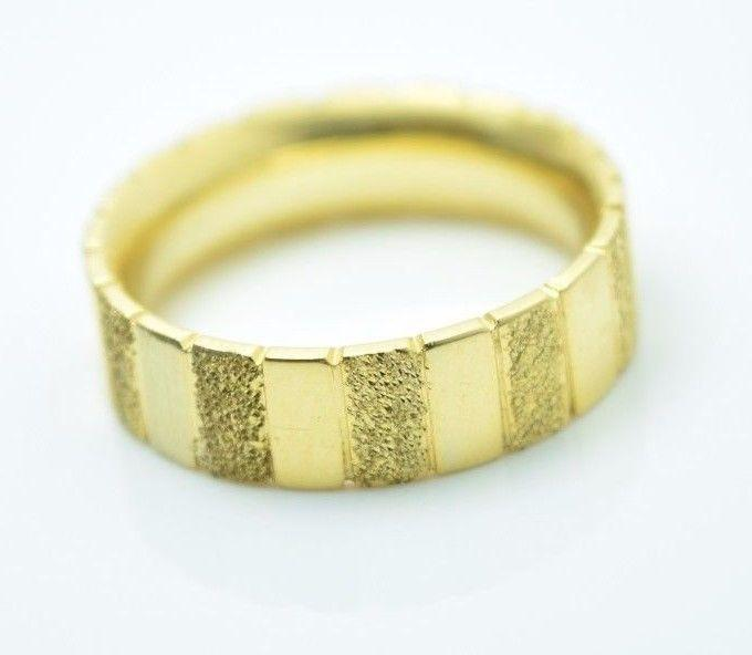 22k Yellow Gold Band Ring Mens or Ladies 6mm Width ANY SIZE AVAILABLE - Royal Dubai Jewellers