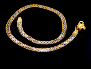 22k 22ct Solid Gold ELEGANT ANKLETS PAYAL length 10.0 Inch B296 with unique box - Royal Dubai Jewellers