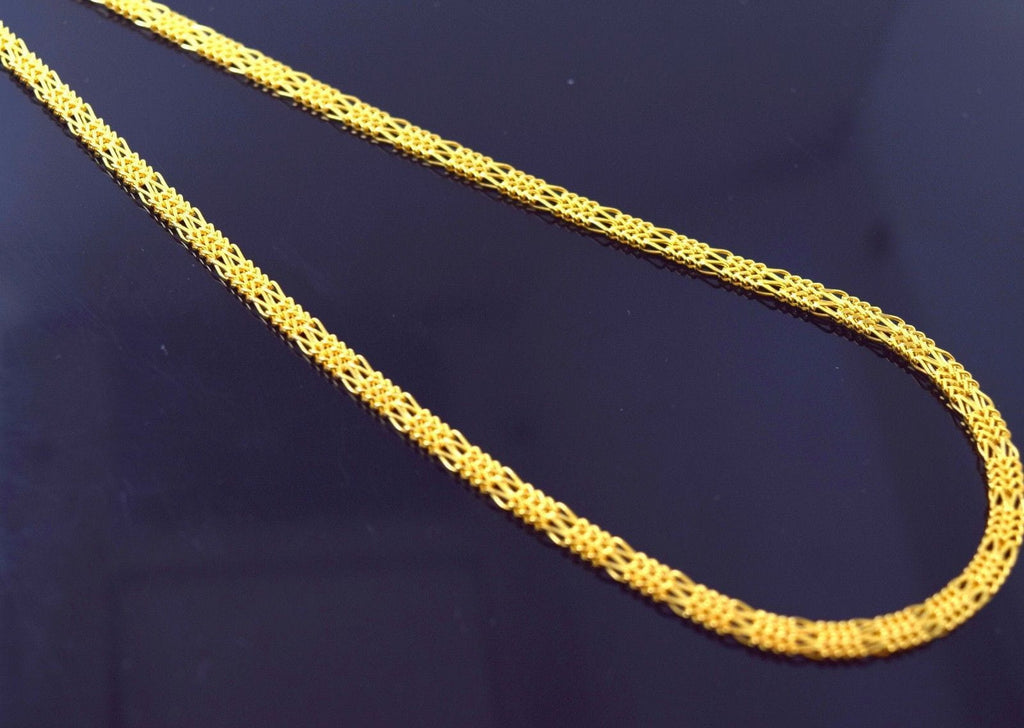 22k 22ct Solid Gold FANCY THICK FLAT DESIGNER BRAIDED Chain Necklace 3