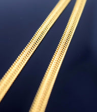 22k 22ct Yellow Solid Gold FANCY FLAT CURD DESIGNER THIN CHAIN NECKLACE c551 - Royal Dubai Jewellers
