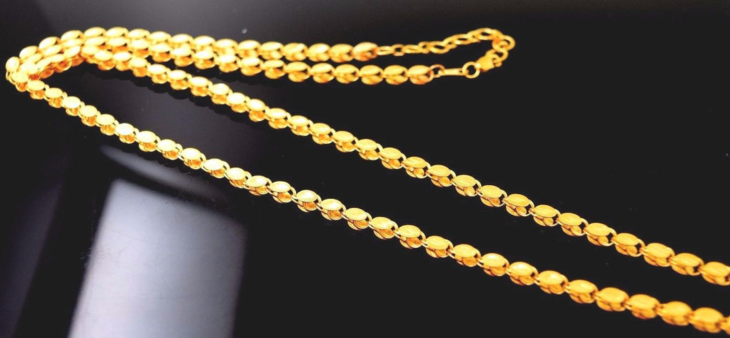 22k 22ct Yellow Solid Gold EXTONIC DUBAI chain DESIGNS SHINNY  NECKLACE c527 - Royal Dubai Jewellers