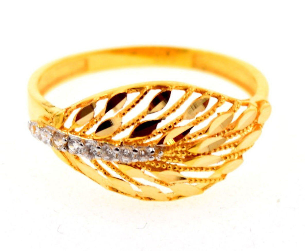 22k 22ct Solid Gold Elegant STONE BAND Ring size 6.8