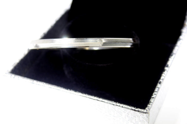 1PC HANDMADE Men b14 Solid Sterling Silver 925 size 2.75 inch kara Bangle Cuff - Royal Dubai Jewellers