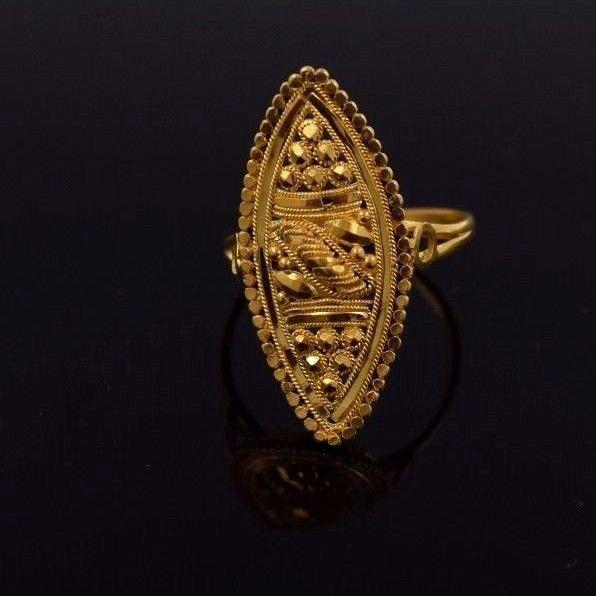 "22k 22ct Solid Gold ELEGANT Ring Band with Box ""RESIZABLE"" R555 - Royal Dubai Jewellers"