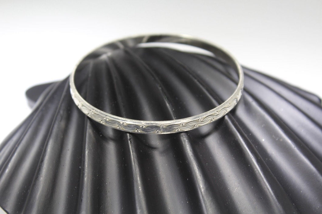 1PC HANDMADE women b51 Solid Sterling Silver 925 size 2.25 inch kara Bangle Cuff - Royal Dubai Jewellers