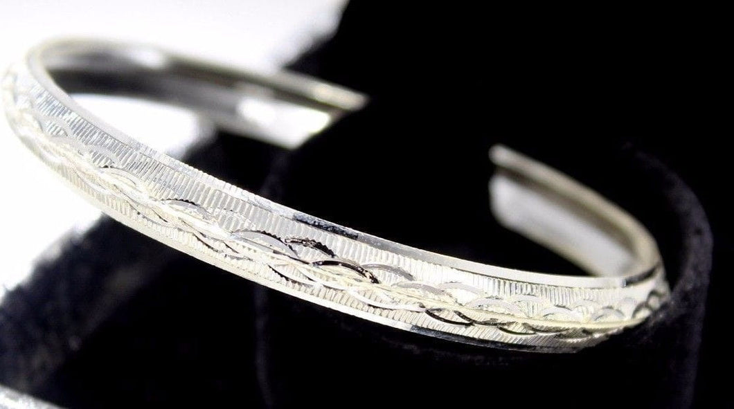 1PC HANDMADE men b108 Solid Sterling Silver 925 size 3 inch kara Bangle - Royal Dubai Jewellers