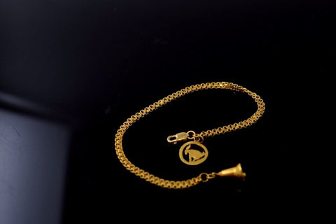 22k 22ct Solid Gold ZODIAC SIGN BEADED CAPRICON CHARM BRACELET LENGHT 6.5in B595 - Royal Dubai Jewellers