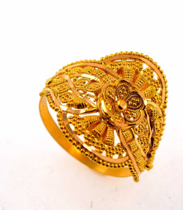 22k 22ct Solid Gold BEAUTIFUL DESIGNER WOMEN Ring RESIZABLE size3.7 r760 - Royal Dubai Jewellers