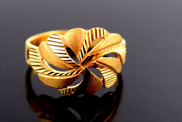 22k 22ct Solid Gold ELEGANT RING band with BOX FREE *RESIZING* R548 - Royal Dubai Jewellers