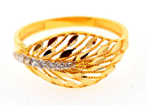 "22k 22ct Solid Gold Elegant STONE BAND Ring size 6.8 ""FREE RESIZABLE"" r623 - Royal Dubai Jewellers"