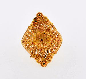 "22k 22ct Solid Gold ELEGANT LADIES BAND Ring SIZE 8.0 ""RESIZABLE"" R696 - Royal Dubai Jewellers"