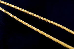 22k 22ct Solid Gold ELEGANT SKINNY BRAIDED FANCY CHAIN NECKLACE LENGHT:18 c544 - Royal Dubai Jewellers