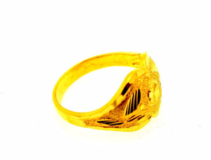 22k 22ct Solid Gold ELEGANT RING band with BOX FREE *RESIZING* R533 - Royal Dubai Jewellers