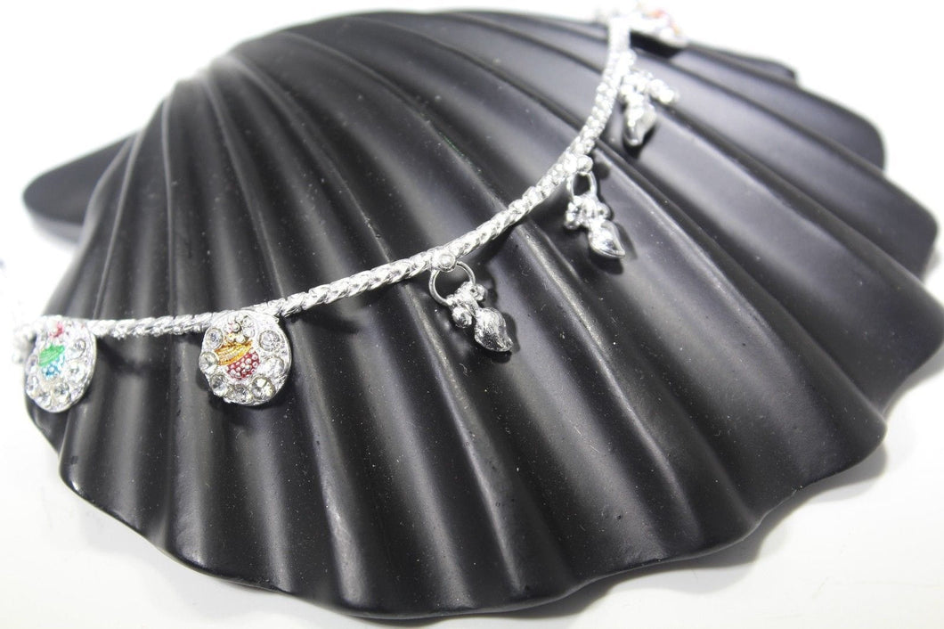 2PC HANDMADE  Solid Silver Payal 925 sbb89 Sterling adult ladies Anklets - Royal Dubai Jewellers