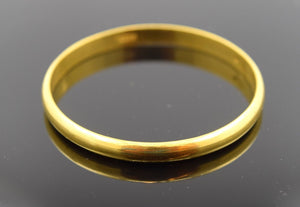 """CHOOSE YOUR SIZE"" 22k 22ct Solid Gold 5MM BABY BANGLE BRACELET Half Round kids - Royal Dubai Jewellers"