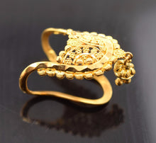 22k 22ct Solid Gold BEAUTIFUL DESIGNER WOMEN Ring RESIZABLE size6.0 r768 - Royal Dubai Jewellers