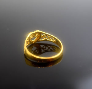 "22k 22ct Solid Gold Elegant BAND Ring size 6.7 ""FREE RESIZABLE"" r447 - Royal Dubai Jewellers"