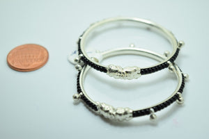 2PC HANDMADE Baby Solid Silver Bracelet 925 sb66 Sterling Children Bangle Cuff - Royal Dubai Jewellers