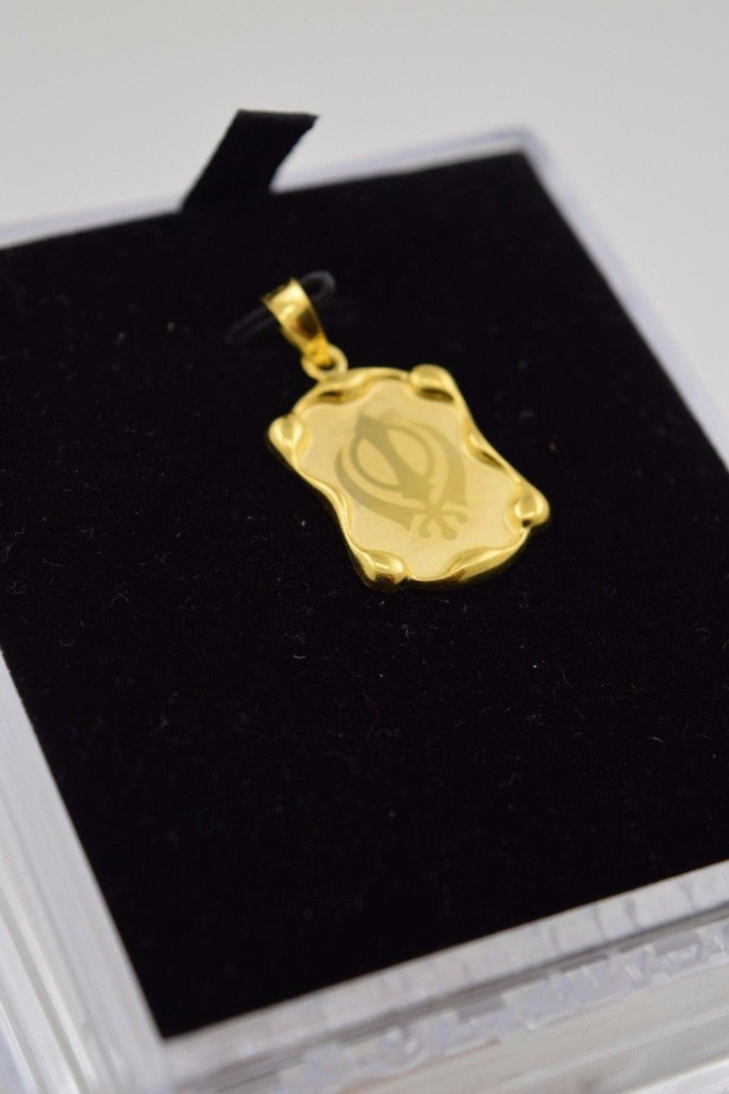22k 22ct Solid Gold Sikh Religious pendant charm locket p282 - Royal Dubai Jewellers