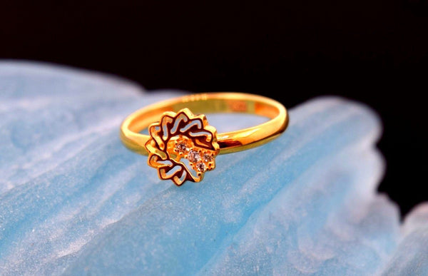"22k 22ct Solid Gold CUTE STAR ELEGANT BABY KID Ring ""RESIZABLE"" size 4.2 r744 - Royal Dubai Jewellers"