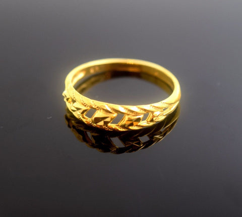"22k 22ct Solid Gold Elegant BAND Ring size 7.0 ""FREE RESIZABLE"" r483"