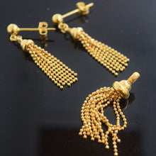 22k 22ct Solid Gold ELEGANT PENDANT SET EARRINGS HANGING with free box S86 - Royal Dubai Jewellers