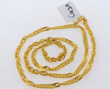 22k 22ct Solid Gold EXCLUSIVE UNISEX DISCO TWISTED CHAIN LONG c429 - Royal Dubai Jewellers