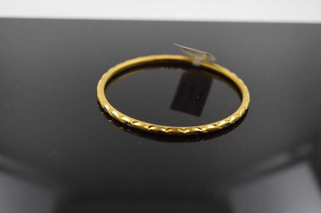 22k 22ct Solid Gold ELEGANT PLAIN BABY CHILDREN BANGLE BRACELET 2039 - Royal Dubai Jewellers