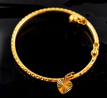 22k 22ct Solid Gold ELEGANT BABY KID BRACELET bangle with Charm cuff cb474 - Royal Dubai Jewellers