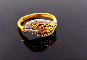 "22k 22ct Solid Gold Elegant STONE BAND Ring size 7.8 ""FREE RESIZABLE"" r649 - Royal Dubai Jewellers"