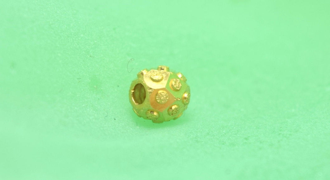 22k 22ct Solid Gold ROUND BALL FINDINGS bead sphere spacer charm pendant clasp - Royal Dubai Jewellers