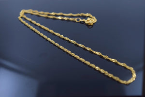 22k 22ct Solid Gold ELEGANT DISCO TWISTED CHAIN NECKLACE LENGHT:20 c536 - Royal Dubai Jewellers