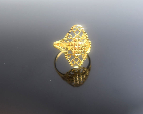 "22k 22ct Solid Gold Elegant  Ring size 6.3 ""FREE RESIZABLE"" r506 - Royal Dubai Jewellers"