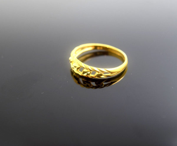 "22k 22ct Solid Gold Elegant BAND Ring size 7.0 ""FREE RESIZABLE"" r483 - Royal Dubai Jewellers"