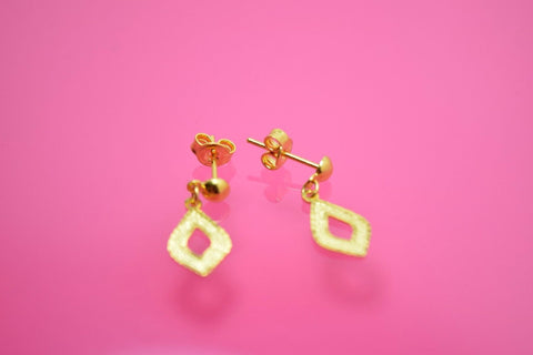22k 22ct solid gold ELEGANT 3 COLOR LONG DANGLING EARRINGS with FREE BOX E38