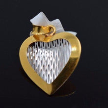 22k 22Ct Solid Gold ELEGANT HEART 3D Pendent P420 with unique box - Royal Dubai Jewellers
