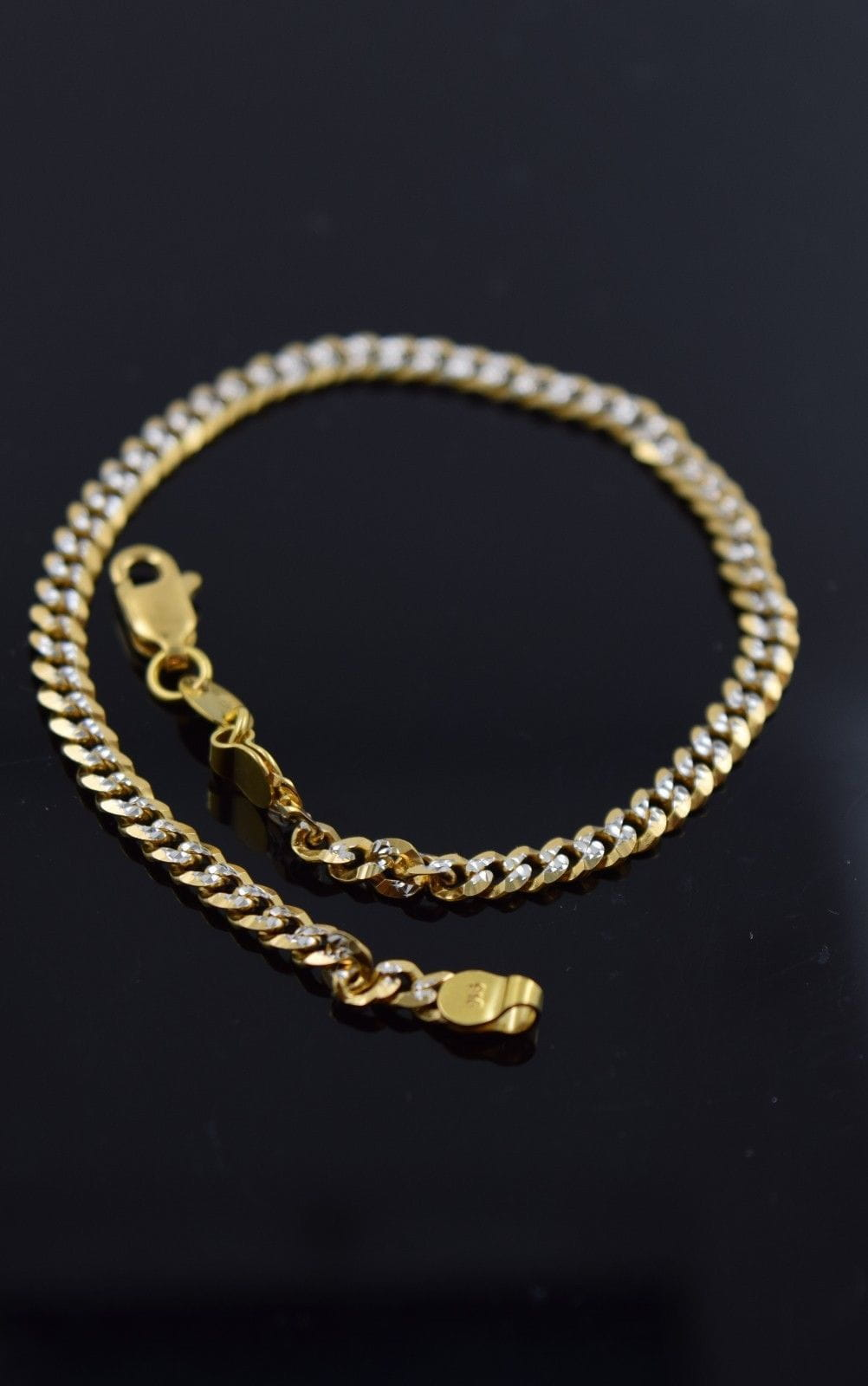 22k 22ct Solid Gold ELEGANT Bracelet with box length 7.5 Inch Cb55 - Royal Dubai Jewellers
