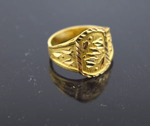 "22k 22ct Solid Gold ELEGANT BABY KIDS Ring ""RESIZABLE"" mf - Royal Dubai Jewellers"